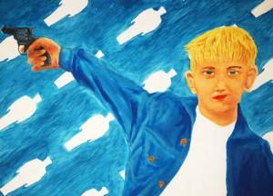 Prodigy (Good Boy / Bad Boy), 1998 Oil on Paper 30w x 22h Inches